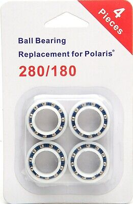 4 Pack Ball Bearing Replacement Wheels Fit Polaris 280 180 Cleaner Part C60 C-60