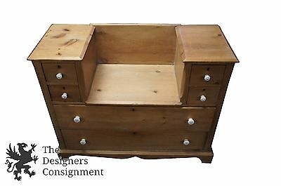 Distressed Antique Pine Dresser Chest of Drawers Rustic Primitive Reclaimed Wood