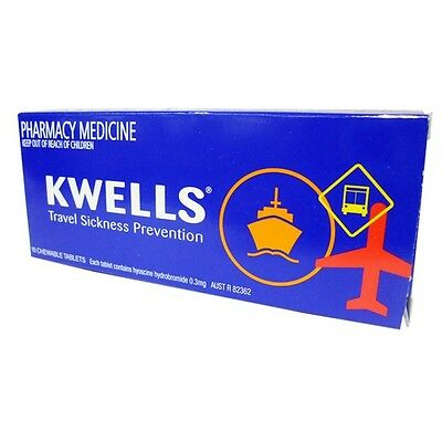 Kwells Travel Sea Sick Motion Sickness Tablets 12s