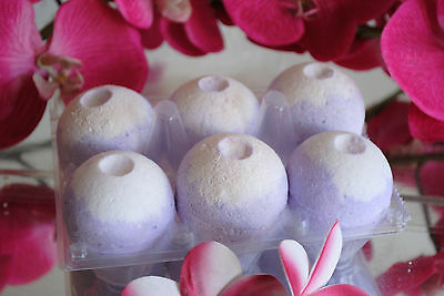 BLUEBERRY MUFFIN Aromatherapy Bath Bombs with Coconut Oil GIFT PACK OF 6
