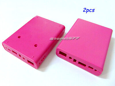 2pcs Plastic 18650 Battery Case Box For Making DIY Emergency Charger.etc s435