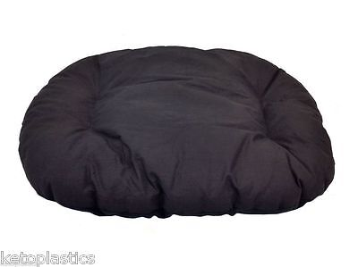 New!!!  Large Black Fleece Dog /  Cat Bed Cushion To Put In Bottom Of Basket
