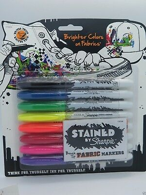 8/Pack Stained by Sharpie Fabric Markers Laundry 1779005 BRAND NEW