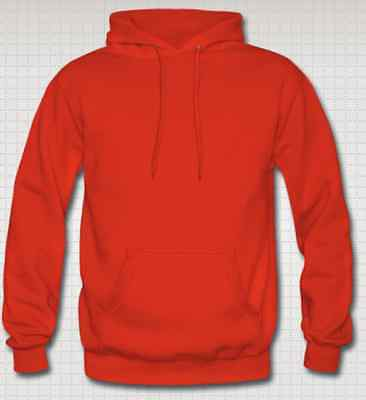 OFFERTISSIMA Felpa con Cappuccio Footex Made in Italy ROSSA Sweet Hoodie