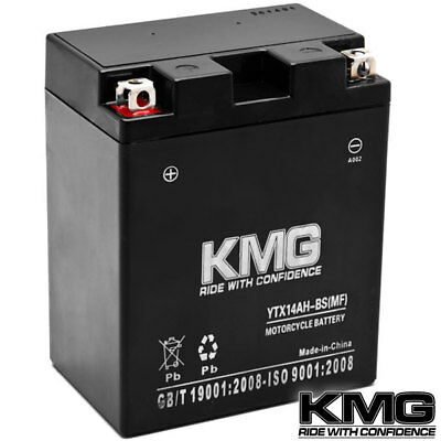 NEW High Performance 12V SMF Battery NEW Replacement YTX14AH-BS Maintenance Free
