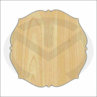 Unfinished Wood Laser Cut Decorative Plaque (TM4), Ready to Paint, Wreath Accent