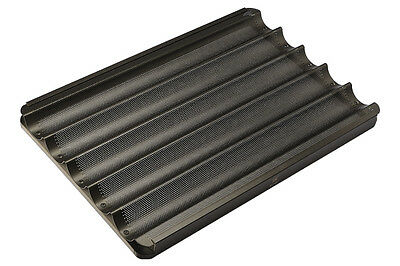Baguette Tray - 5 channels & teflon coated