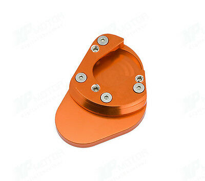 Orange KTM Side Stand Plate Large Pad 990 Adventure R S 2006 2007 2008 2009-2012