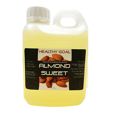 ALMOND SWEET OIL 1L Litre ~ 100% Pure ~ Cold Pressed ~ Premium Grade