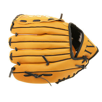 11.5'' Softball Baseball Glove Mitts Outdoor Team Sports Youth Brown Left Hand