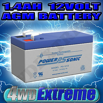 Minature Battery 1.4Ah 1.4 Amp Hour Agm Sla 12 Volt 12V Ps1212 Powersonic Small