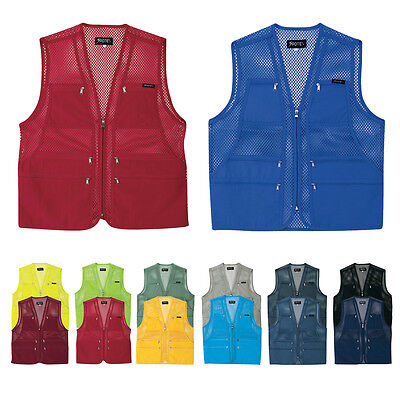 Mens Multi Pockets Fly Fishing Hunting Mesh Vest Mens Travel Outdoor Jacket Top5