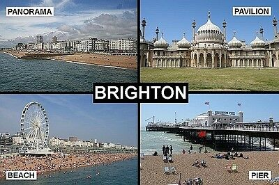 SOUVENIR FRIDGE MAGNET of BRIGHTON ENGLAND