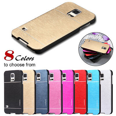 Ultra Thin Slim Case Brushed Metal Aluminum Hard Back Cover For iPhone Samsung