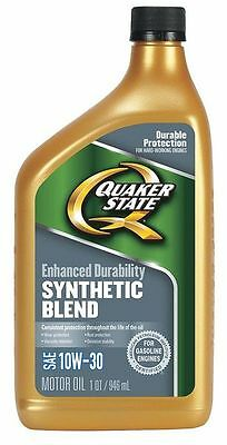 QUAKER STATE 550024131 Motor Oil,1 qt.,10W-30,Synthetic Blend