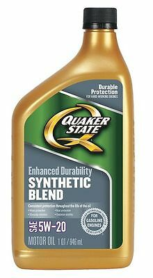 QUAKER STATE 550024129 Motor Oil,1 qt.,5W-20,Synthetic Blend