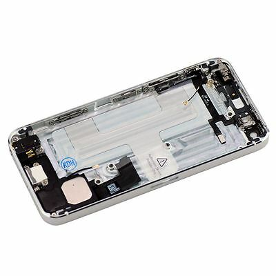 Back Housing Case with Full Flex(cable+power+charger+buttons)for iPhone 5 Silver