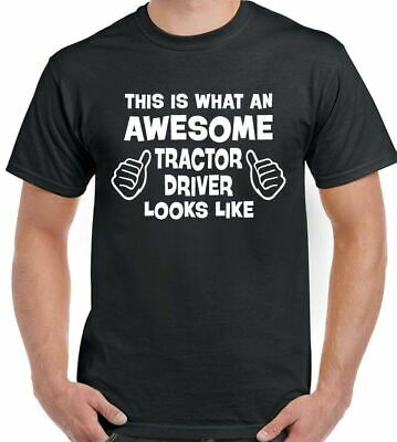This Is What An Awesome Tractor Driver Looks Like - Mens Funny T-Shirt