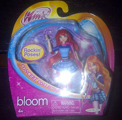 winx Club Doll *BLOOM Rockin' Poses* Concert Series Believix new Mint 3.75 inch