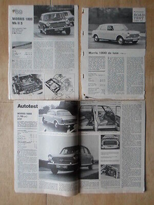 MORRIS 1800 Saloon & S collection of 1960s UK Mkt road tests & articles Landcrab
