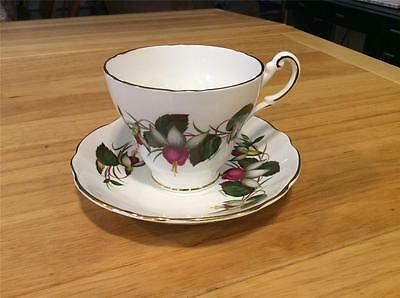Regency Bone China England Floral Pattern, Cup and Saucer. Sophisticated, Pretty