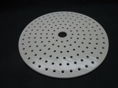 Coors CoorsTek 230mm Perforated Porcelain Desiccator Plate 60456, 5mm Holes