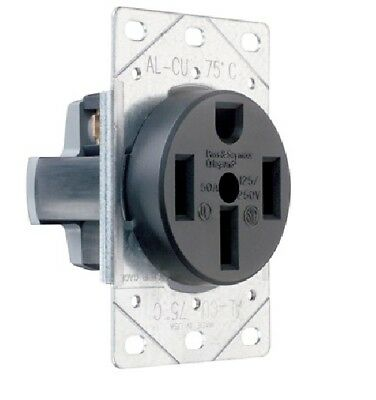 P & S 3894 Straight Blade Range Receptacle, Flush, 3P 4-Wire 50A 125/250V,14-50R