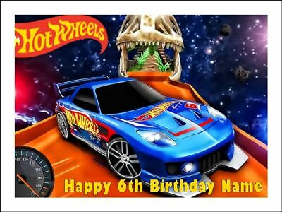 Hot Wheels Edible Birthday Party Cake Decoration Topper Round Cars