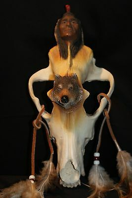 HOLDING WOLF Sculpture by J.H. Boone Limited Edition Collectible 0258/2500-E