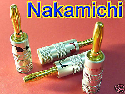 New 24 pcs 24K Gold Nakamichi Speaker Banana Plug DIY Audio Jack Connector