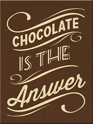 Nostalgic-Art - Magnet 8x6 cm - Chocolate is the Answer