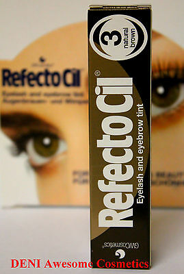 Sale !!!! Refectocil Natural Brown(No.3) Eyelash & Eyebrow Professional Tint
