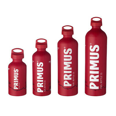 Primus Fuel Bottle in Matt RED (expedition camping stove liquid fuel) ALL SIZES!