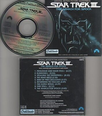 James Horner ‎– Star Trek III: The Search For Spock CD Album 1993