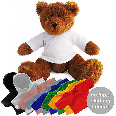 50 William Teddy Bears Soft Toys + Blank Printable Sublimation T-Shirt / Hoodies