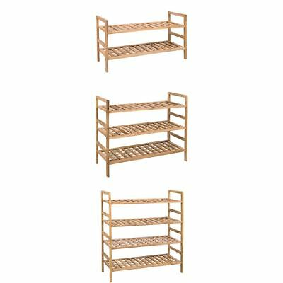 2 3 4 Tier Criss Cross Shoe Rack Walnut Storage Stand Organiser By Home Discount