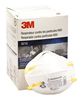 3M N95 Particulate Respirator, 8210, Case of 8 Boxes/160 Masks *Free US Shipping