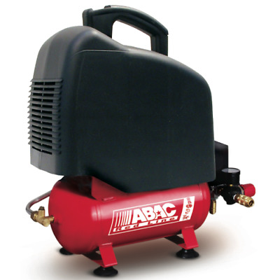 Abac 6 Lt 1,5 Hp Oilless RED Compressore coassiale portatile 6 lt 8 bar
