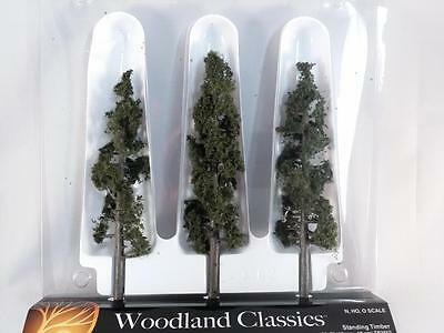 "Woodland Scenics Trees Standing Timber - Fir Pine 6""-7"" N HO O Scale #3562 New"