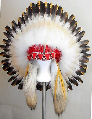 "Genuine Native American Navajo Indian Headdress 36"" diameter 1875 REPLICA"