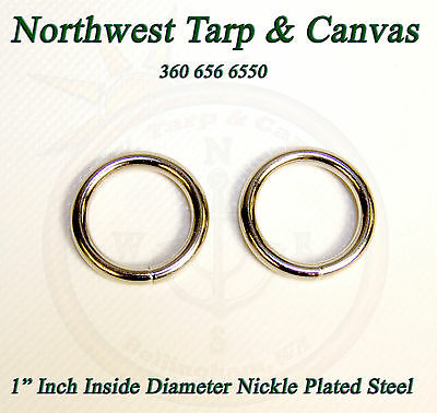 "O-Ring, 1"" Inch Inside Diameter, Nickle Plated Steel, 2 Piece Set"