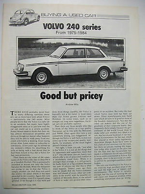 Volvo 240 Series 1975 To 1984 Secondhand Car Buying Guide