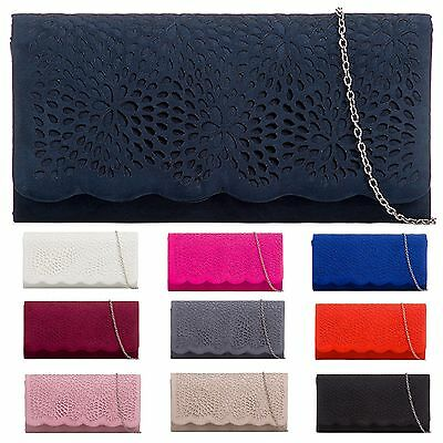 Suded Velvet Lace Party Bridal Prom Evening Wedding Clutch Hand Bags