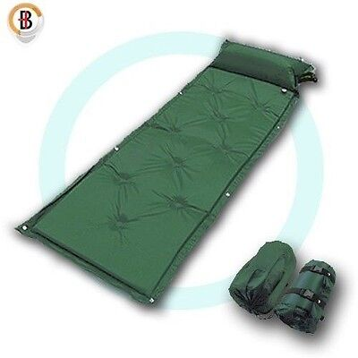 Self Inflating Mattress Camping Hiking Airbed Mat Sleeping w/ Pillow Bag Camp G
