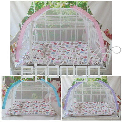 Baby Kid Child Cot Bed Foldable Fold Mosquito Net Tent 110*70*70 W