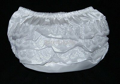 Baby Girls White Frilly Knickers Pants 0-12 Months 3 Styles *One Supplied*