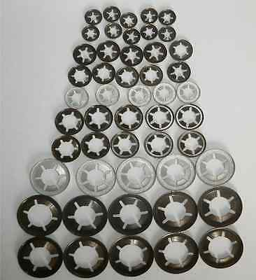 Genuine Starlock Washers For Imperial Round Shaft,50 Piece Assortment push on