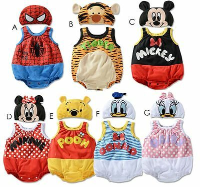 NEW Baby Boys Girls Costume Bodysuit Outfit Set Gift Romper Clothes/Hat for3-24M