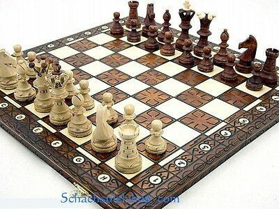 The ROYAL LUX Wooden Chess Set  w/ BOARD 21´´   AJEDREZ