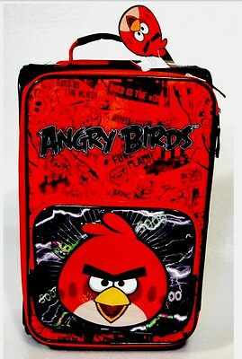 Angry Birds Kids Rolling Travel Suite Case 18 In. NEW